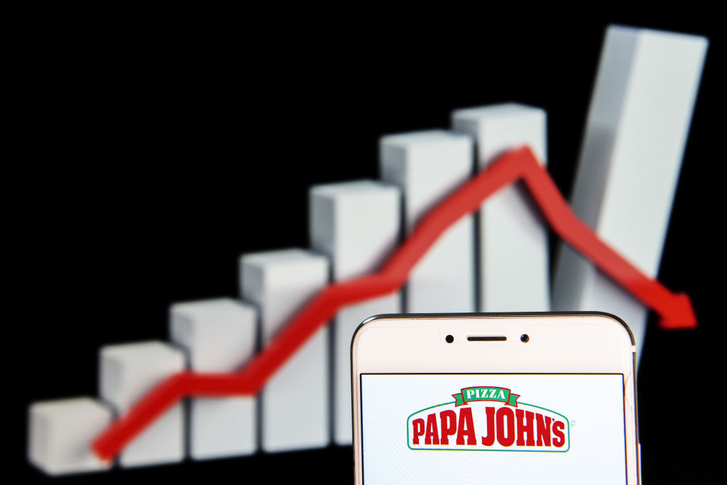 American pizza restaurant franchise Papa John's Pizza logo