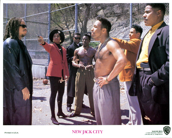 Ice-T And Wesley Snipes In 'New Jack City'
