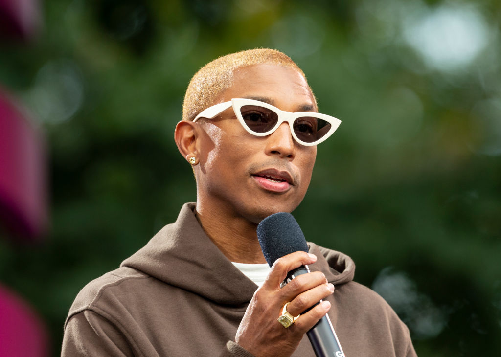 Pharrell Williams speaks on stage during 2019 Global Citizen...