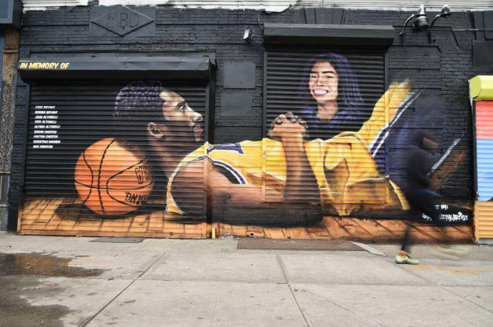 Kobe Bryant & Gianna Bryant Memorialized In Brooklyn Mural