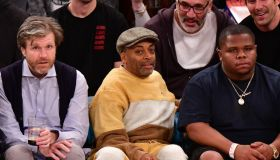 Celebrities Attend Houston Rockets v New York Knicks Game