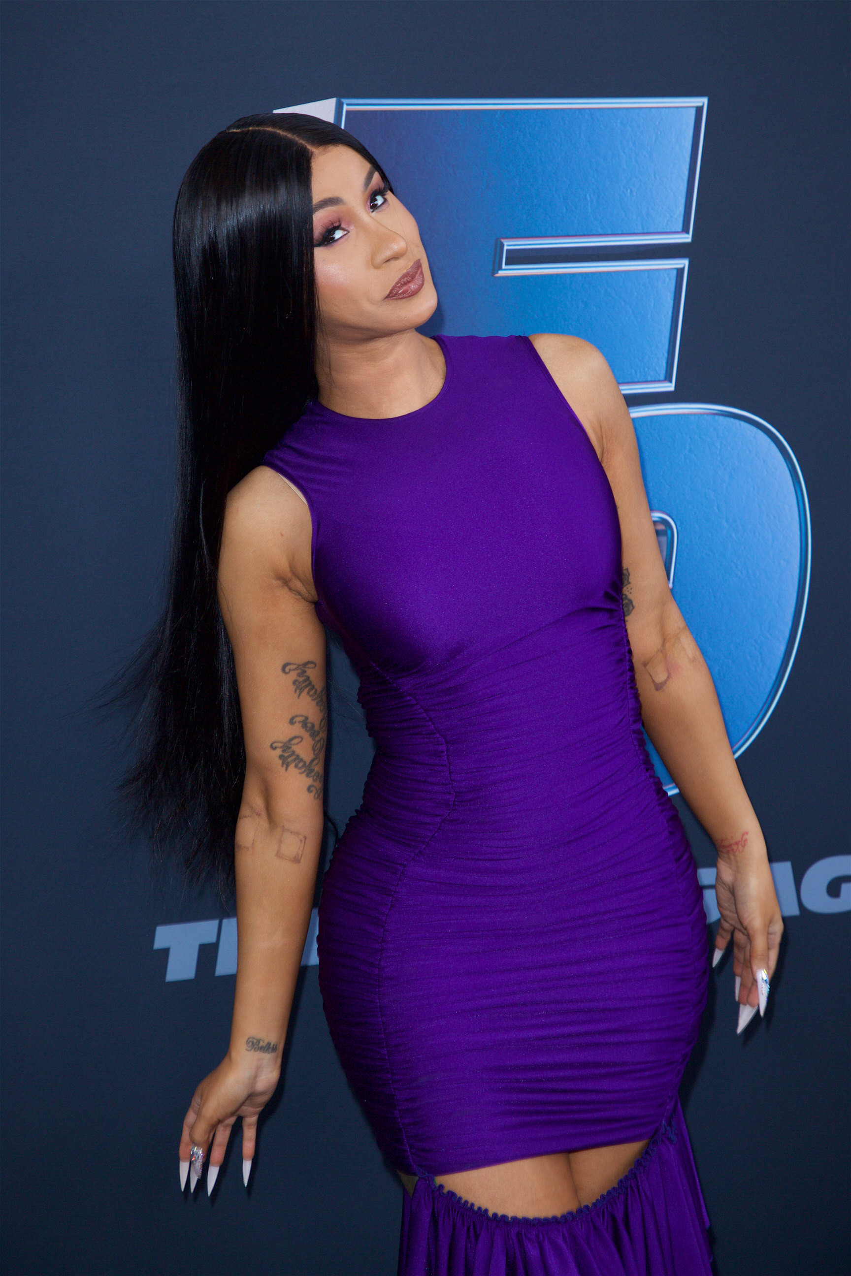 Cardi B arrives at 'The Road to F9' Global Fan Extravaganza, launching all new trailer for ninth chapter in the Fast & Furious franchise in Miami, Florida on January 31, 2020 \n© Rolando Rodriguez/jpistudios.com