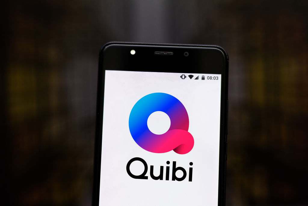 In this photo illustration the Quibi logo is seen displayed...