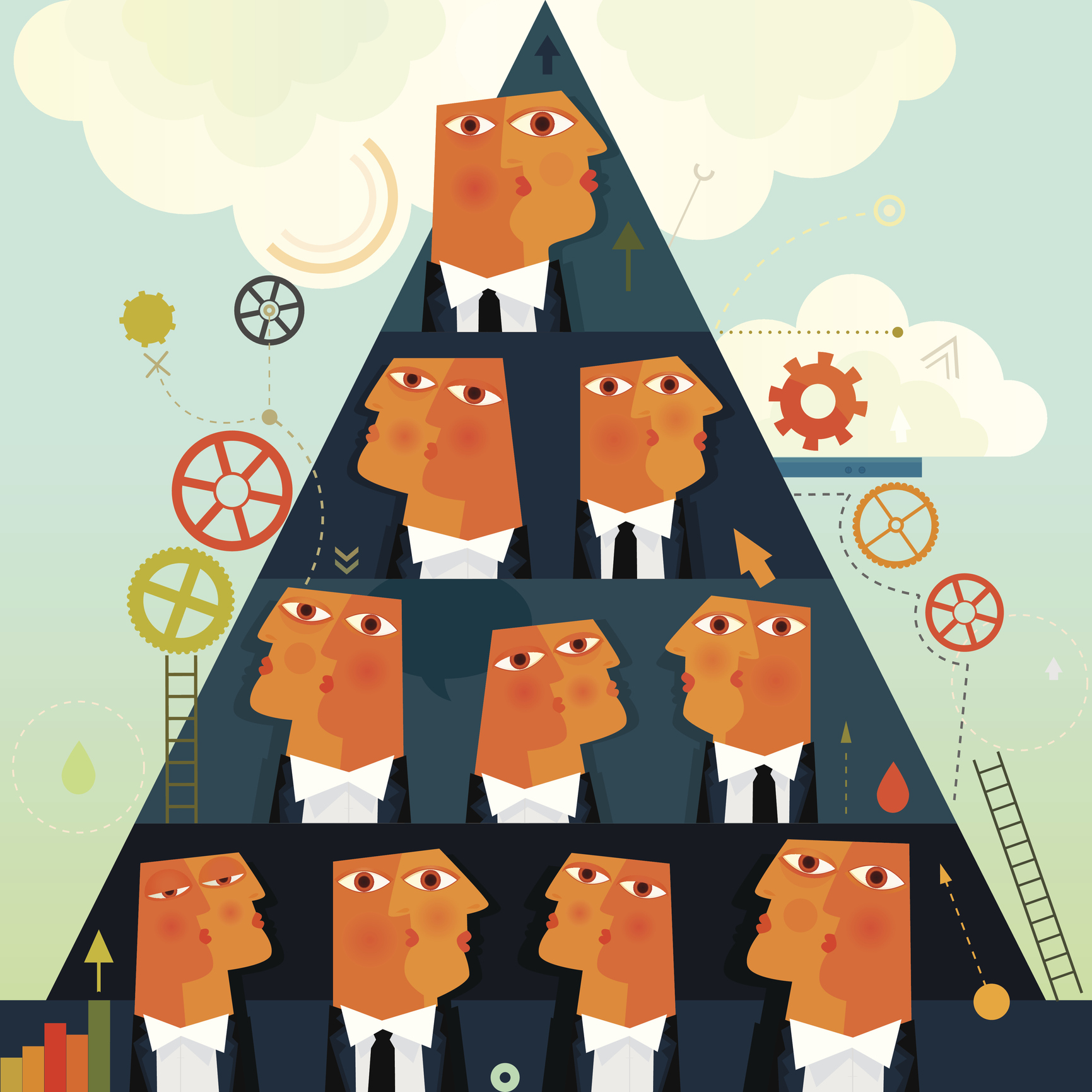 Business Pyramid System