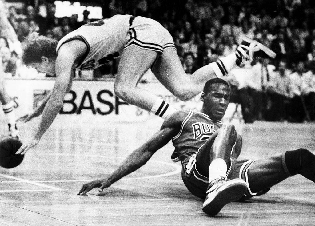 Chicago Bulls Vs. Boston Celtics At Boston Garden