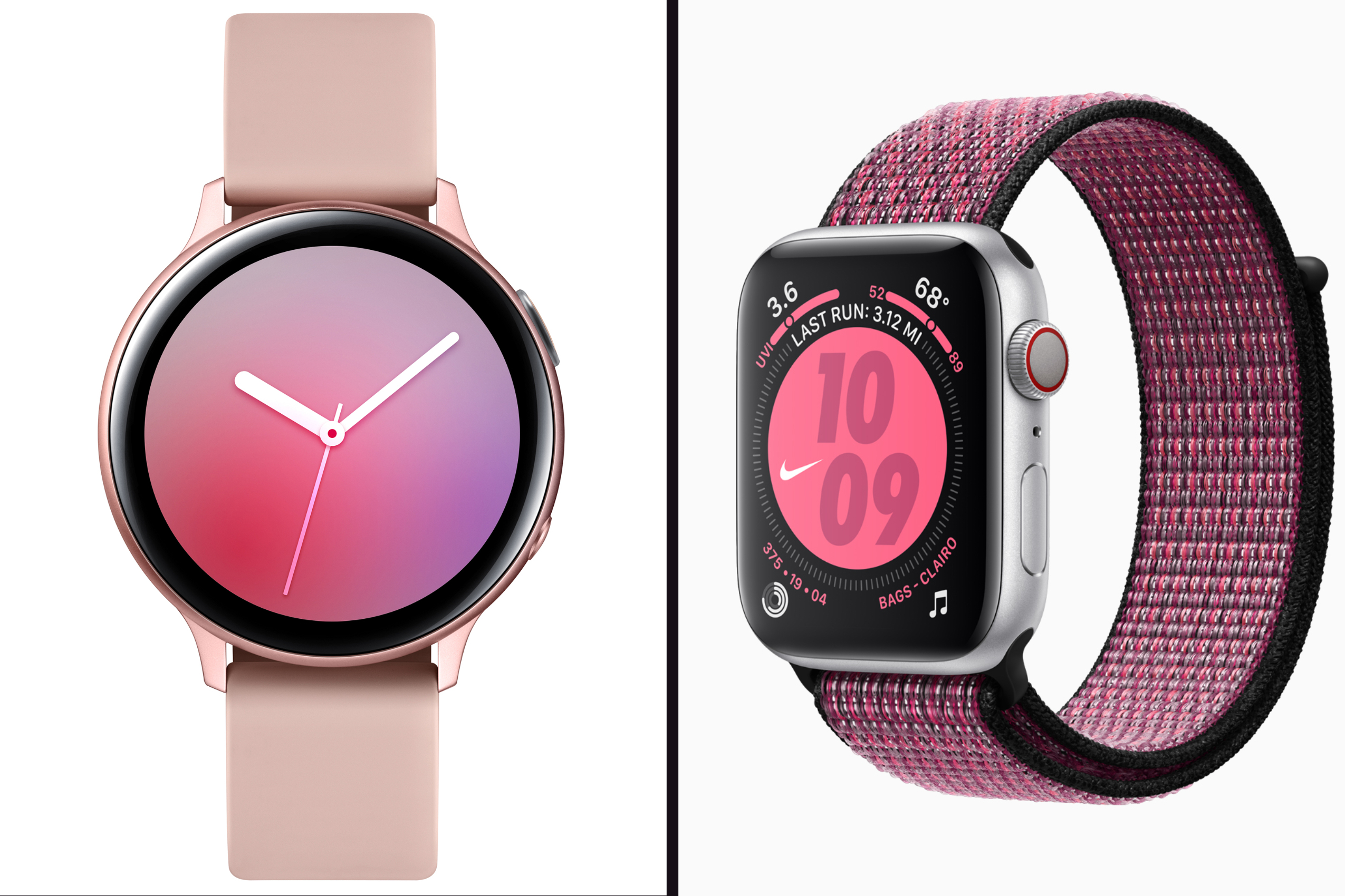 Samsung Galaxy Watch Active 2 and Apple Watch Series 5