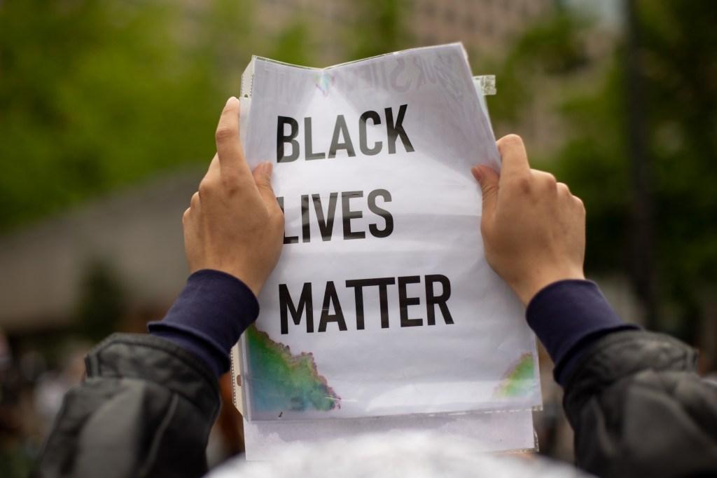 Black Livers Matter Protest Sign