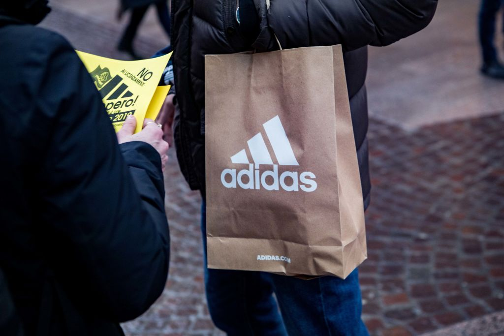 Adidas Employees Protest In Milan