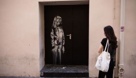 British Graffiti Artist Banksy Puts Up New Works In Paris