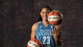 Forward Maya Moore during Minnesota Lynx media day at Mayo Clinic Square Monday May 1, 2017 in Minneapolis, MN.] JERRY HOLT • jerry.holt@startribune.com