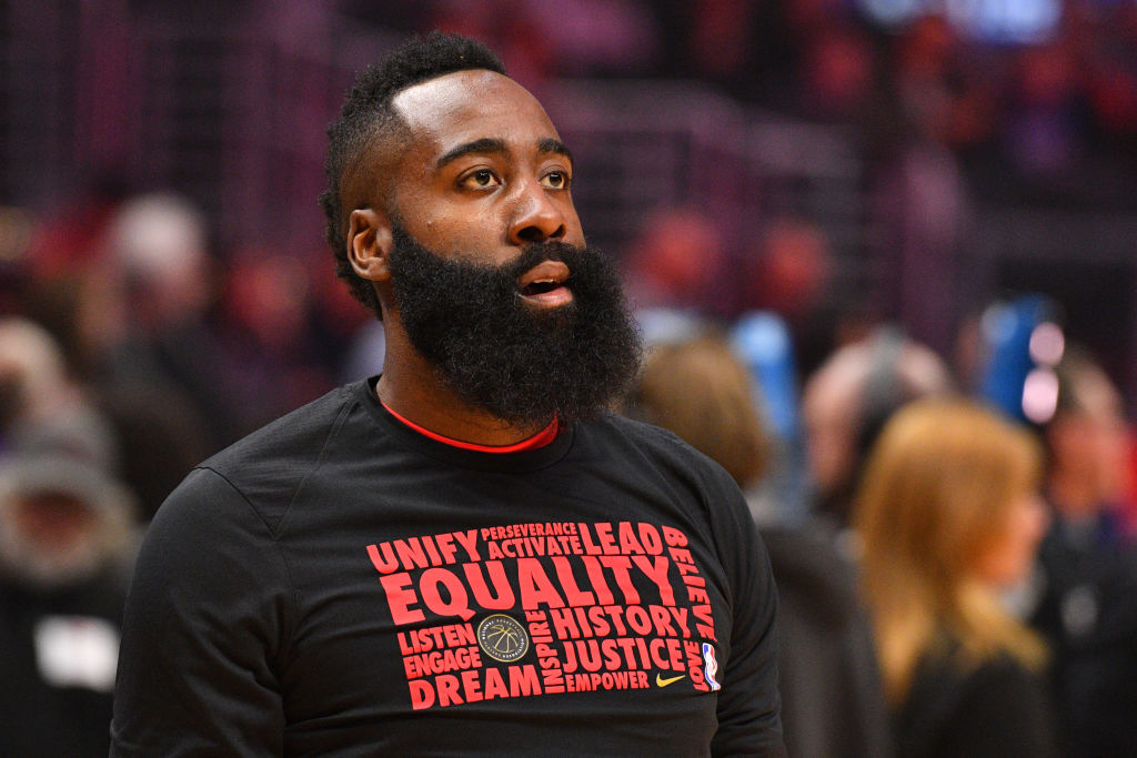 """James Harden Catching Flack For Wearing """"Thin Blue Line"""" Mask"""