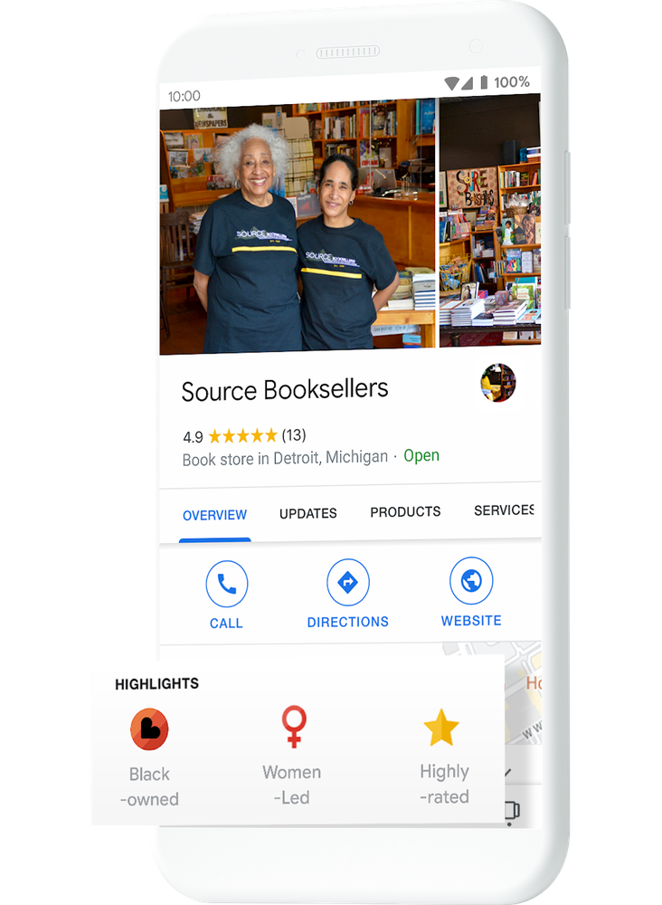 Google's Black Owned Businesses
