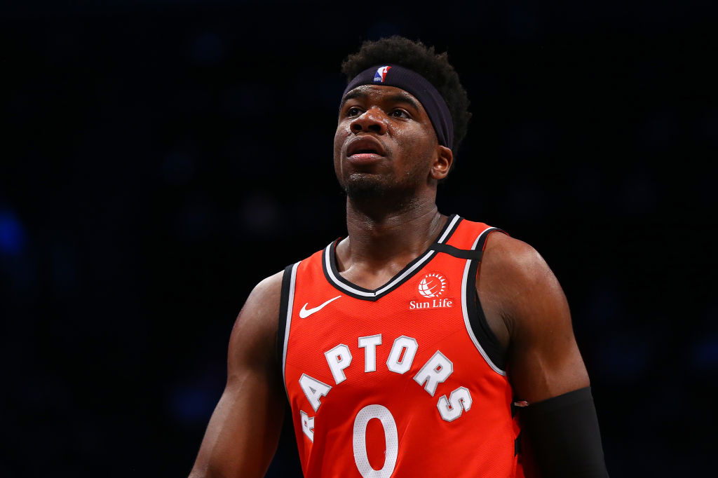 Raptors' Rookie Terence Davis Spotted Rocking Mask With Hole In It