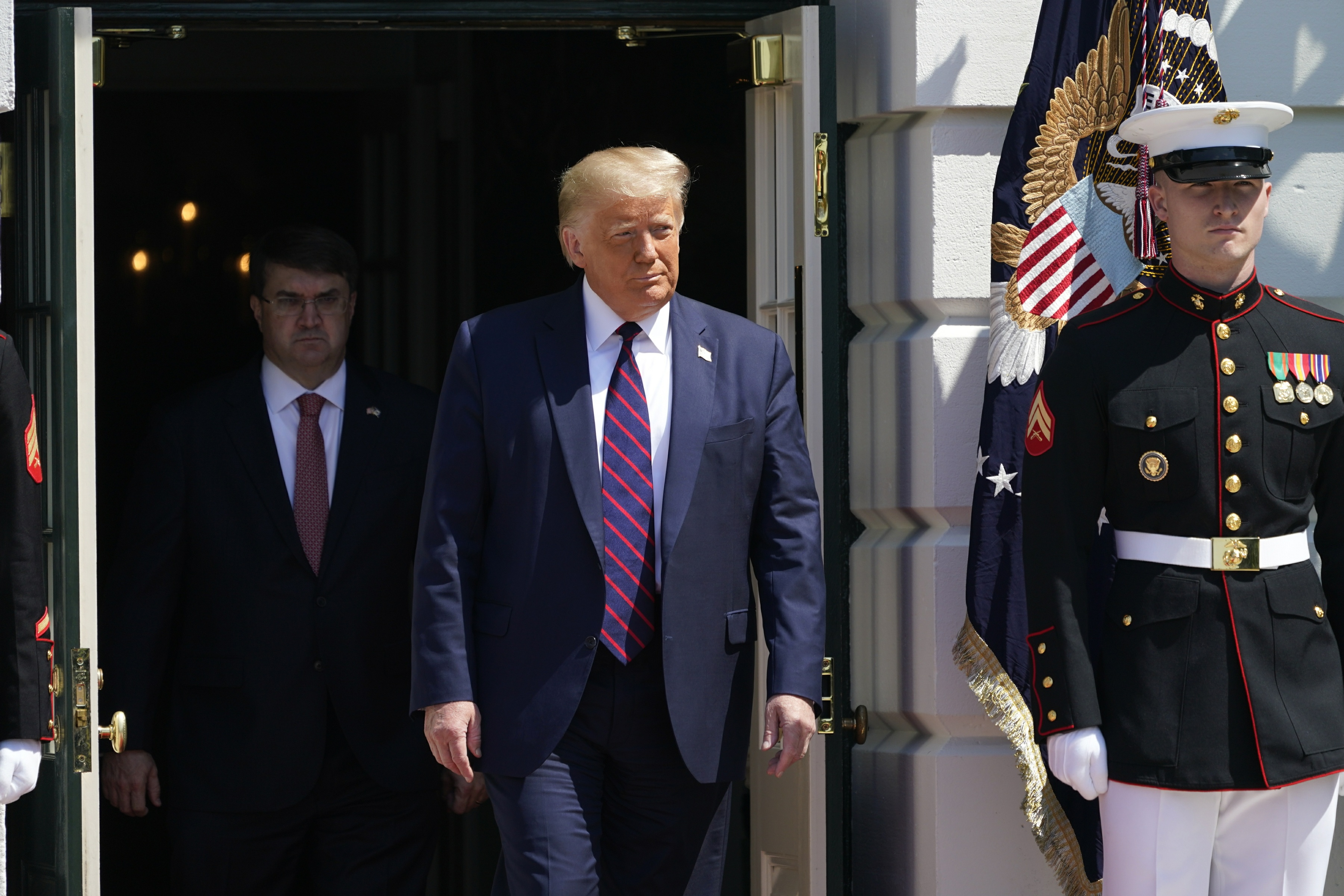 President Trump Welcomes Terry Sharpe to the White House