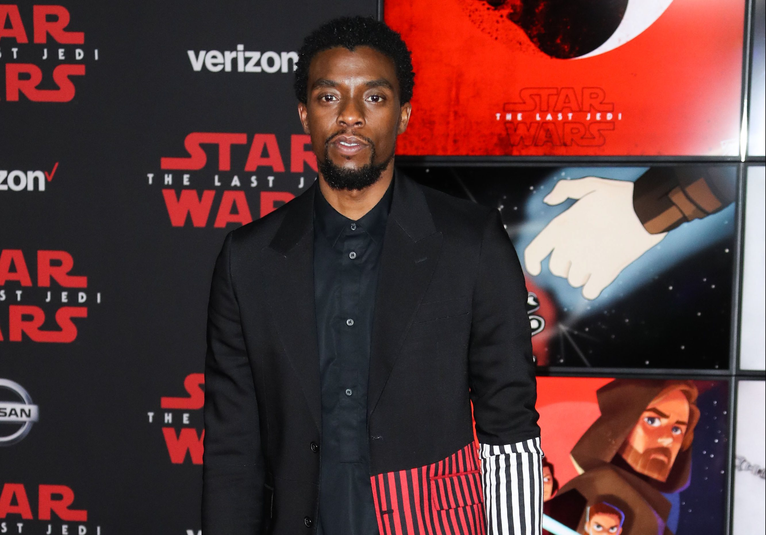 (FILE) Chadwick Boseman Dead at 43 After Battle With Colon Cancer. LOS ANGELES, CALIFORNIA, USA - DE...