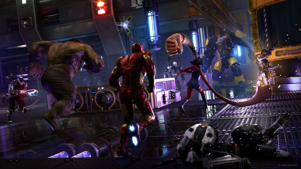 Marvel Avengers fight scene