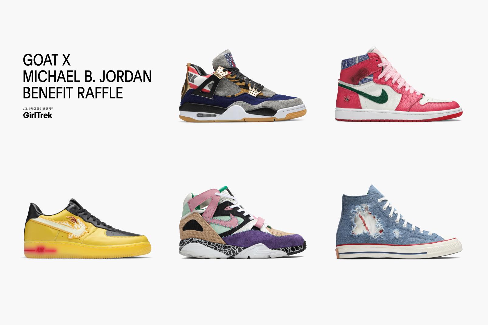 Micahel B. Jordan & The Shoe Surgeon Drop Exclusive Kicks For GOAT Raffle
