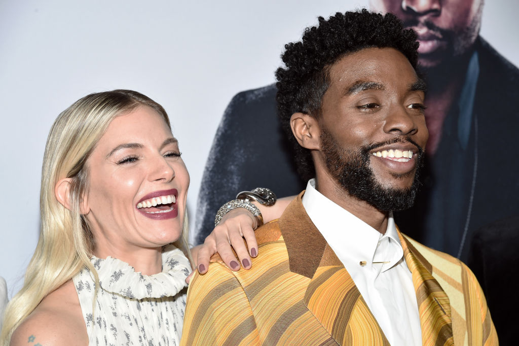 Sienna Miller Reveals Chadwick Boseman Donated His Salary To Up Her Pay