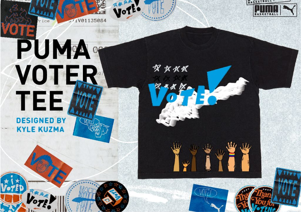 Kyle Kuzma VOTE PUMA t Shirt