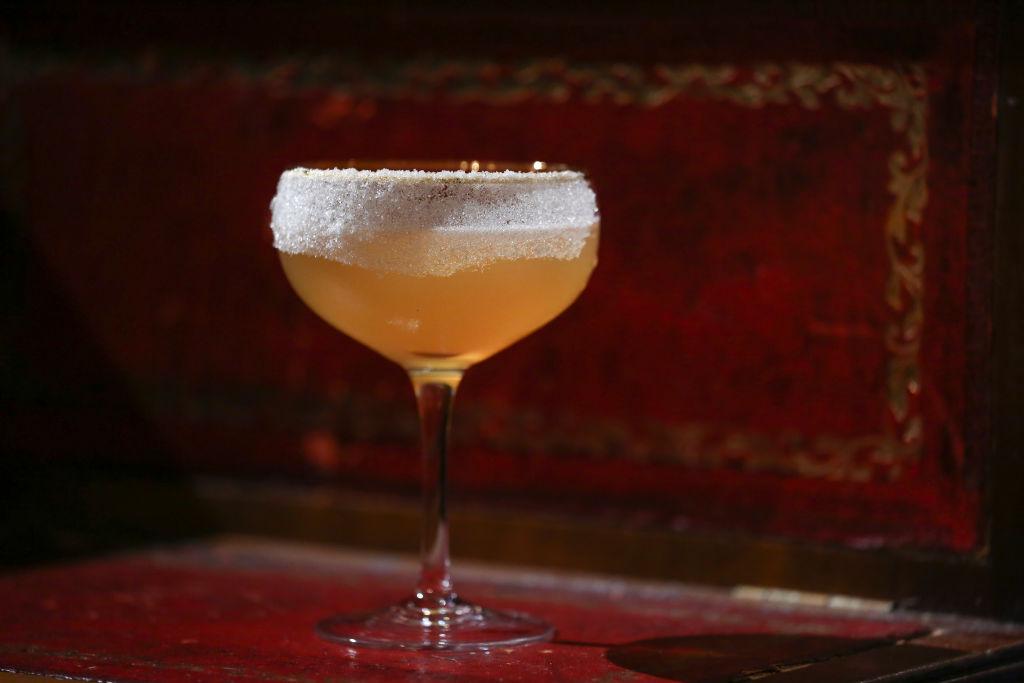 Cocktail original Sidecar, mixed by bar manager Suraj Gurung, at Stockton, 32 Wyndham Street, Central, Hong Kong, on September 22, 2016. 22SEP16 [FEATURES] SCMP / Jonathan Wong