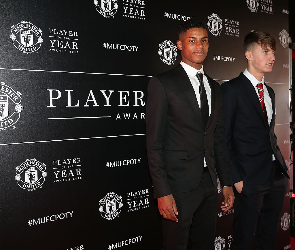 Soccer Player Marcus Rashford at 2016 Manchester United Player of the Year Awards