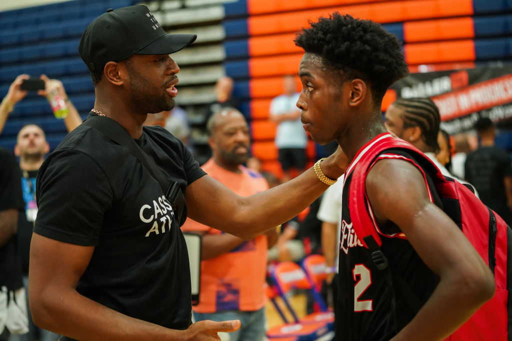 Dwyane Wade Watches Zaire Wade's AAU Game at Fab 48 Tournament