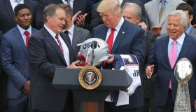 Super Bowl Champion New England Patriots Visit White House