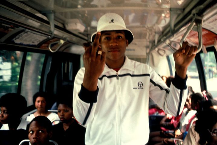 LL Cool J riding the bus, Queen's New York USA 1985