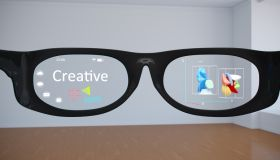 Abstract Smart Glasses helping make creative with Augmented Reality