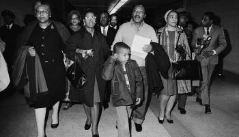 Martin Luther King W/Family