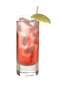 Cocktails on white: Bay Breeze.