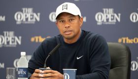17/07/18 THE 147TH OPEN . CARNOUSTIE.Tiger Woods speaks to the media