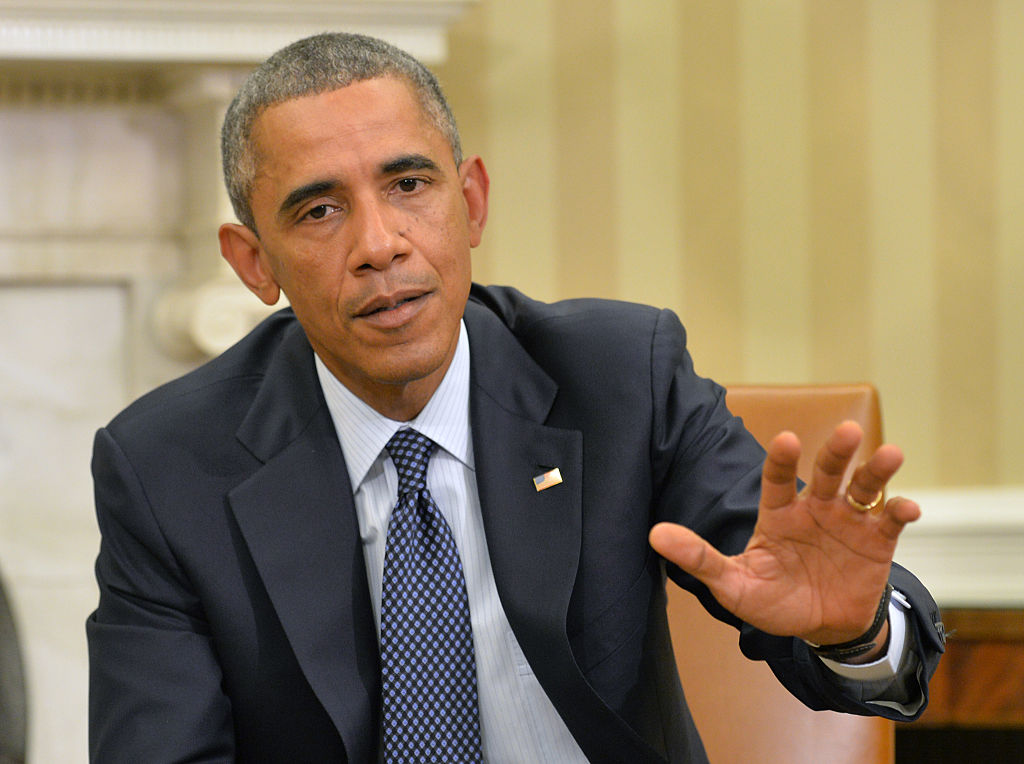 Obama Meets With Members Of His Ebola Response Team At White House