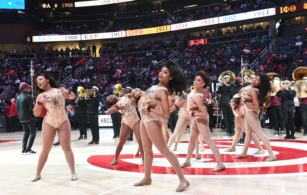 Celebrities Attend Portland Trailblazers vs Atlanta Hawks
