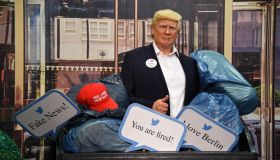 """Dump Trump"" At Madame Tussauds In Berlin"