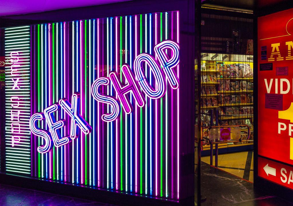 Sex shop exterior...