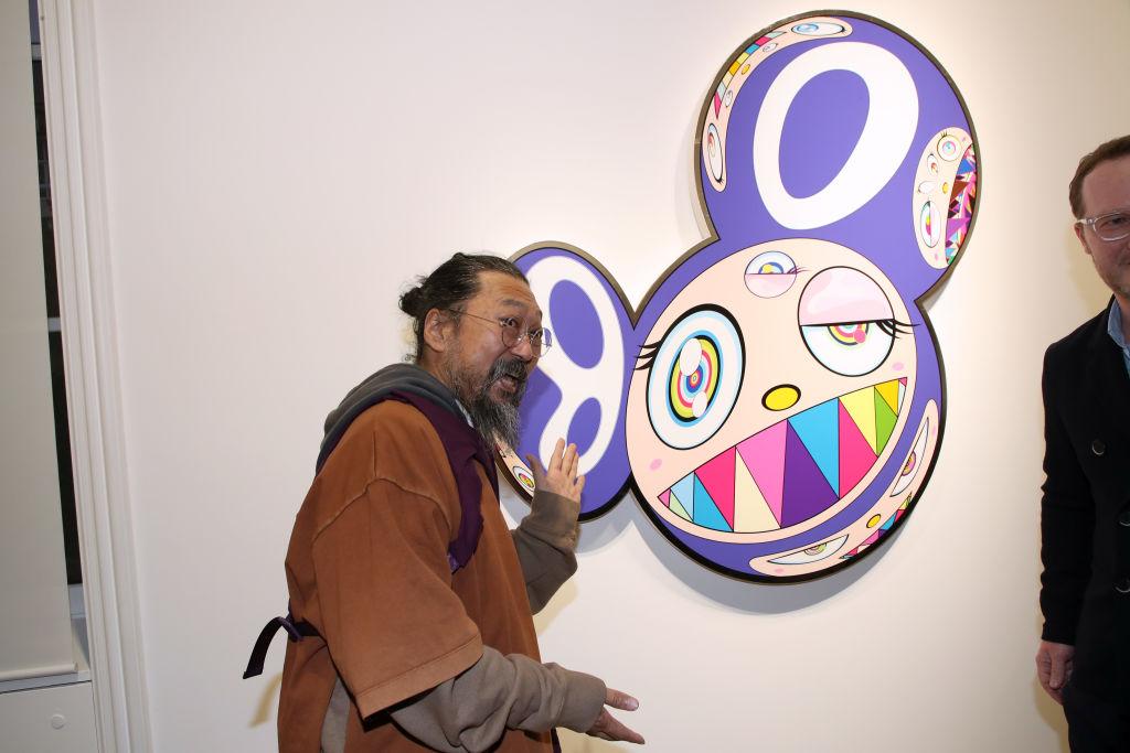 "Takashi Murakami ""Baka"" Exhibition Preview At Gallery Perrotin In Paris"