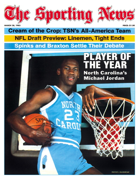 NCAA Basketball Covers - North Carolina Tar Heels' Michael Jordan - March 28, 1983