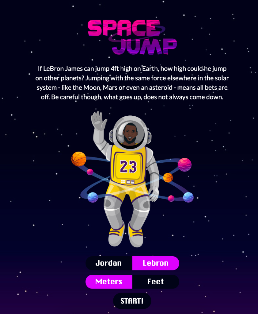 OnlineGambling.com Lebron James Jump Mars