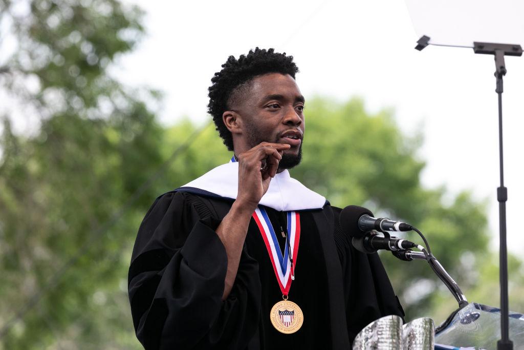 Chadwick Boseman at Howard University 2018 Commencement