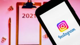 In this photo illustration an Instagram logo seen displayed...