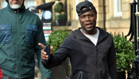 28/08/18.GLASGOW .American comedian Kevin Hart is pictured as he takes a walk around Glasgow