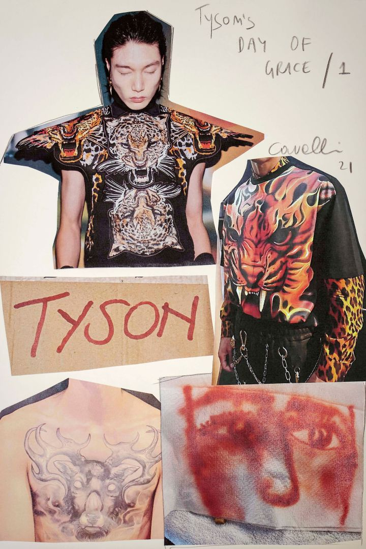 Mike Tyson For Roberto Cavalli Men's Spring 2022