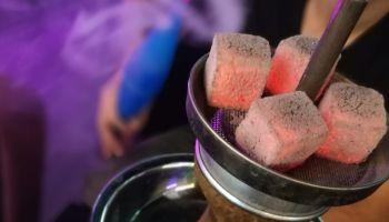 Close-Up Of Hand With Ice Cream, Shisha, Narghilea, Charcoals, Ice
