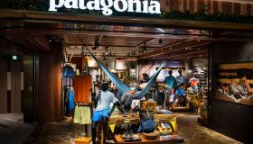 American outdoor clothing brand company Patagonia store seen...
