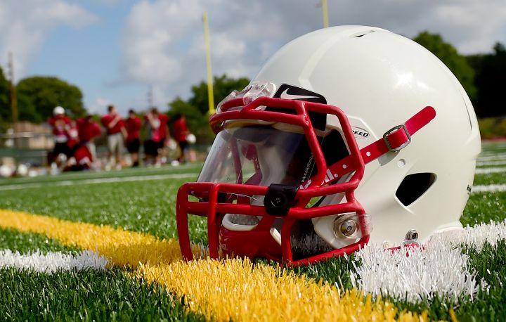 Long Island high school football helmet