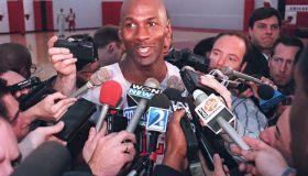 Basketball star Michael Jordan of the Chicago Bull