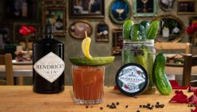 Hendrick's Gin and Katz's Delicatessen Gin-Inspired Pickled Cucumbers Cocktails
