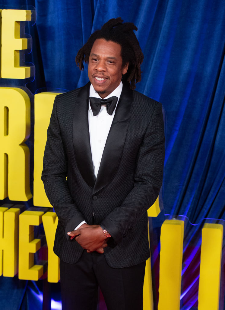 Shawn 'Jay-Z' Carter pictured at the 2021 BFI London Film Festival supporting 'The Harder They Fall'.