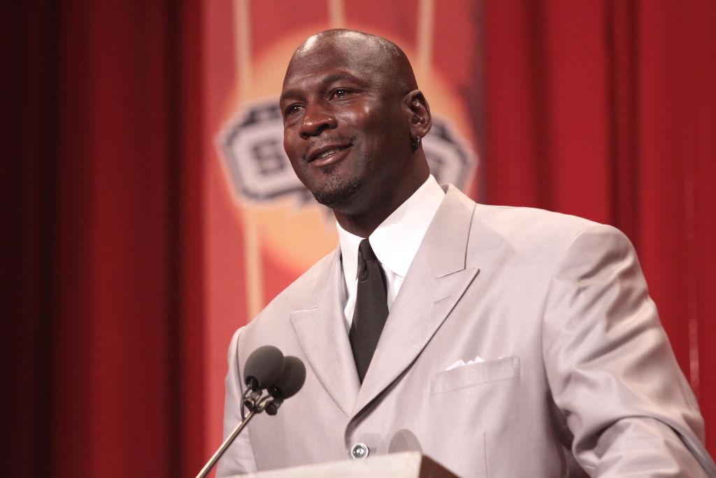 Michael Jordan At His Hall of Fame Enshrinement